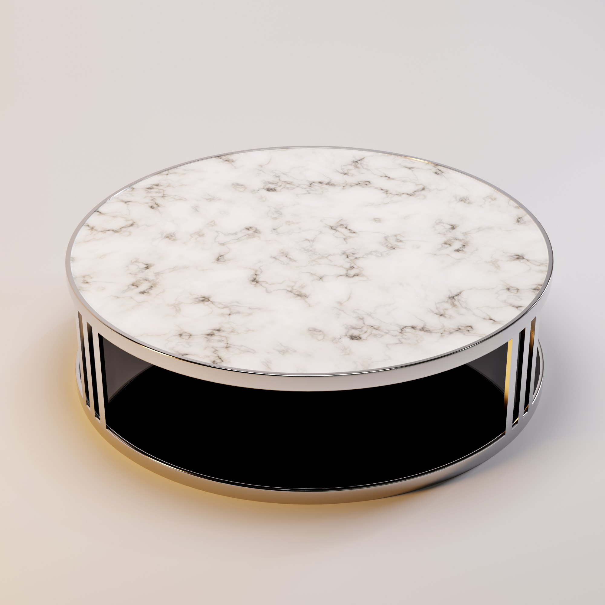 FABRIO coffee table white marble-3