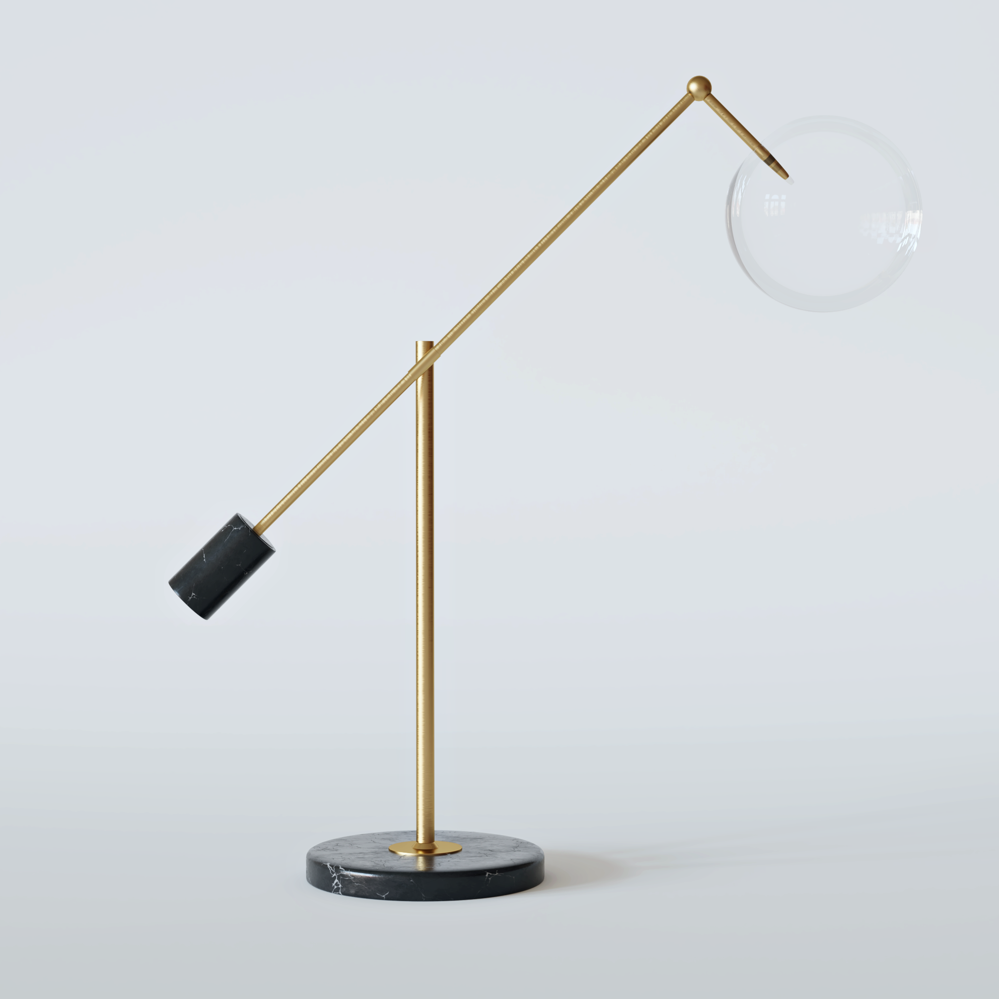 CAPRI Table Lamp Brushed Brass-1