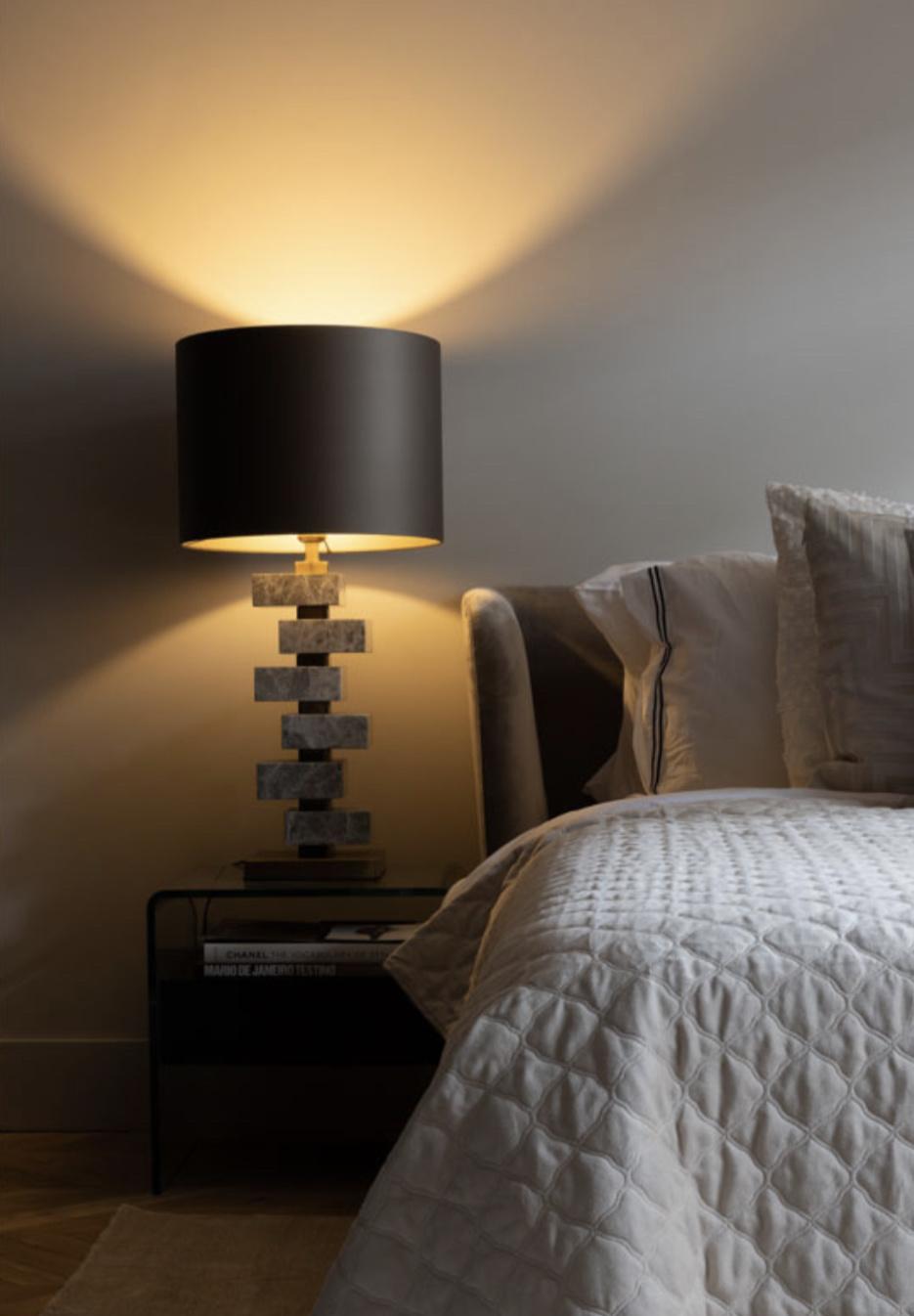 MAYFAIR Table Lamp light grey marble-5