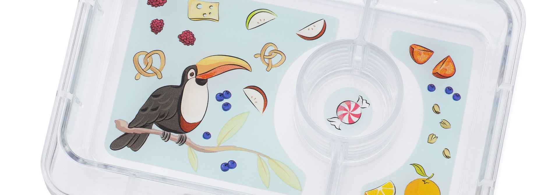 Yumbox MiniSnack tray Toucan