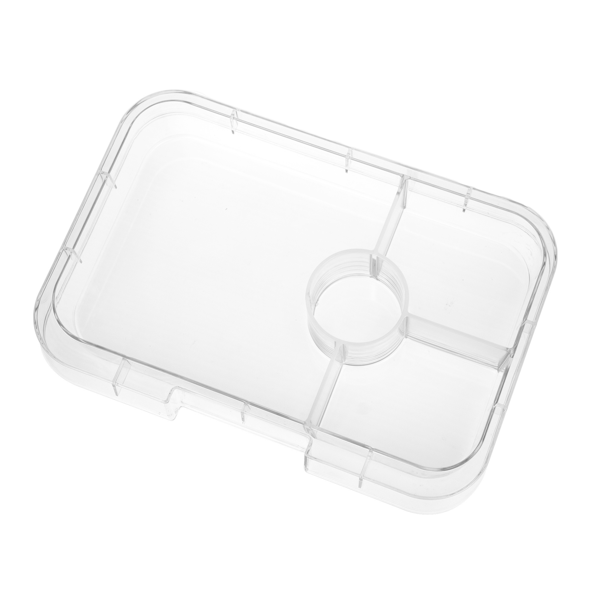 Yumbox Tapas tray 4-sections Transparant-1