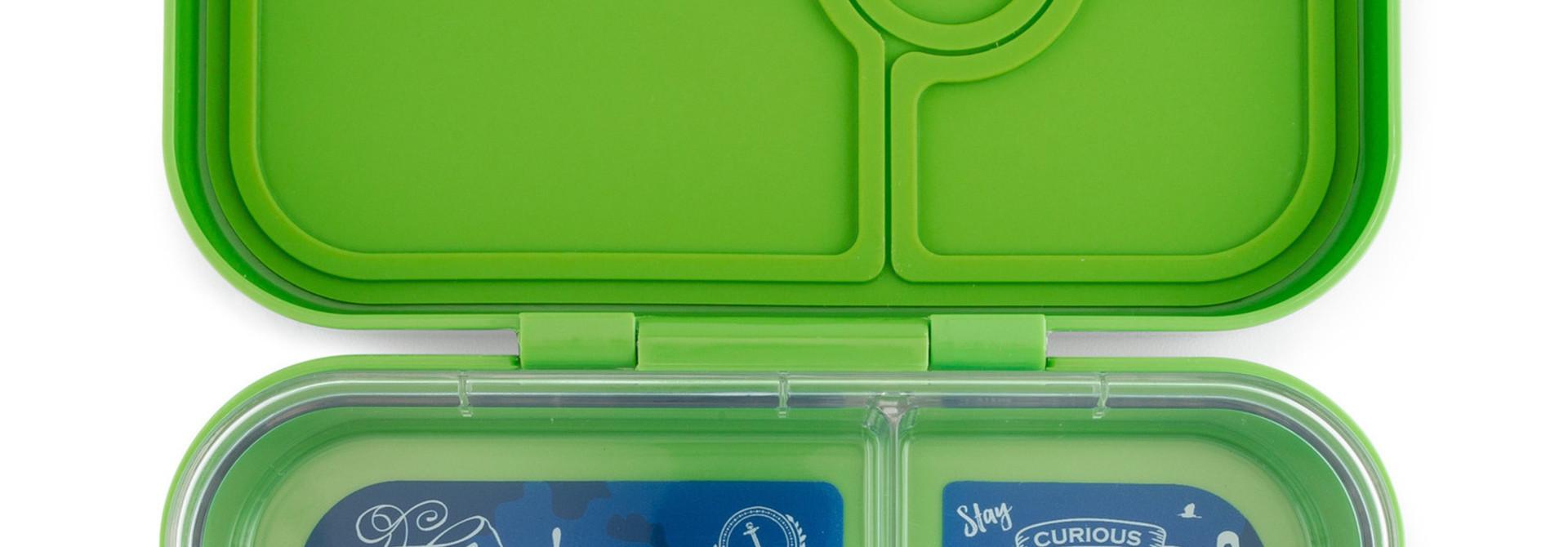 Yumbox Panino broodtrommel 4 vakken Cilantro groen / Explore tray