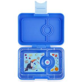 Yumbox MiniSnack broodtrommel 3 vakken True Blue (Jodphur blauw) / Toucan tray