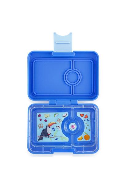 Yumbox MiniSnack 3-vakken Blauw