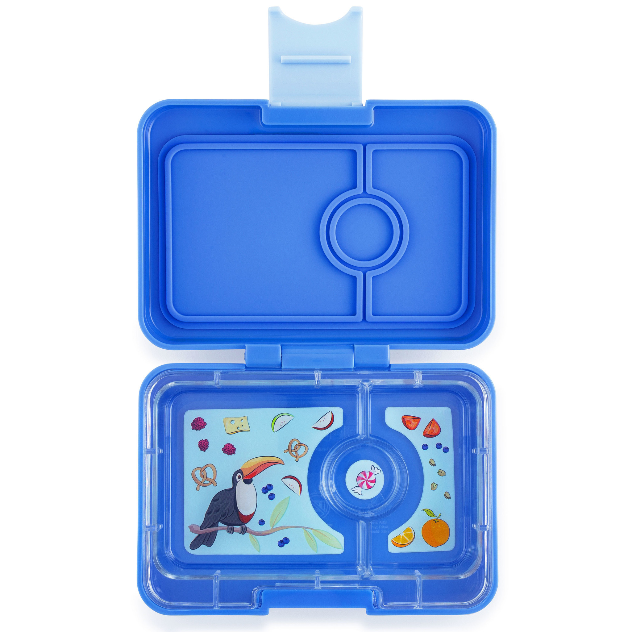 Yumbox MiniSnack 3-sections Jodphur blue / Toucan tray-1