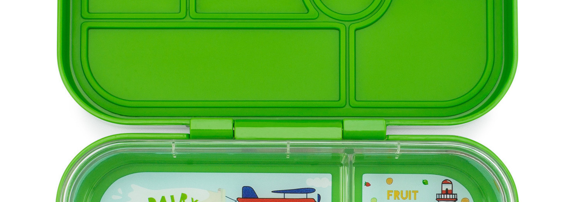 Yumbox Original broodtrommel 6 vakken, Cilantro groen / Explore tray
