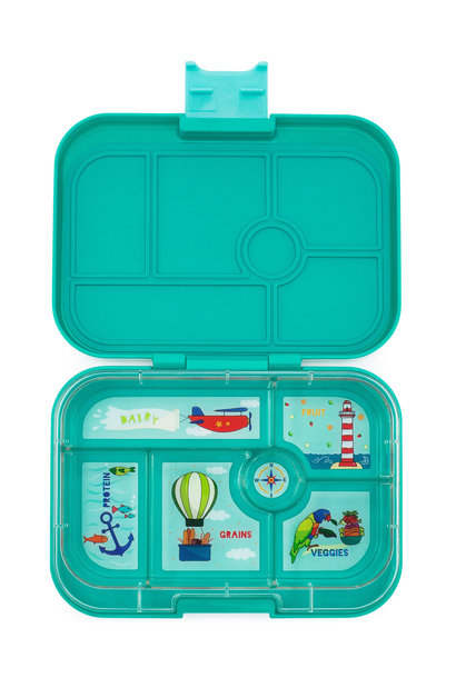 Yumbox Original 6-sections Kashmir aqua