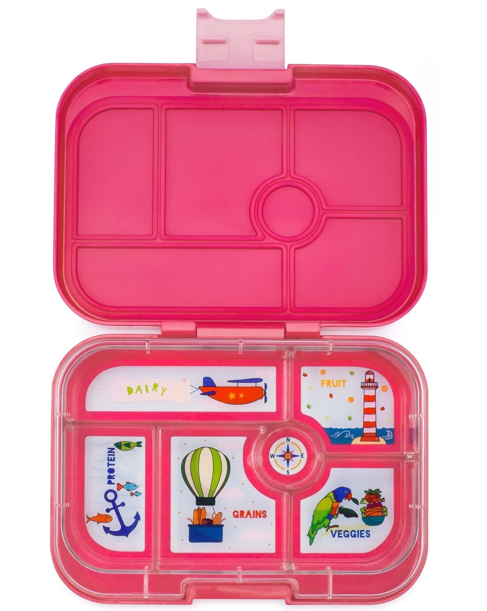 Yumbox Original 6-sections Lotus pink / Explore tray-1
