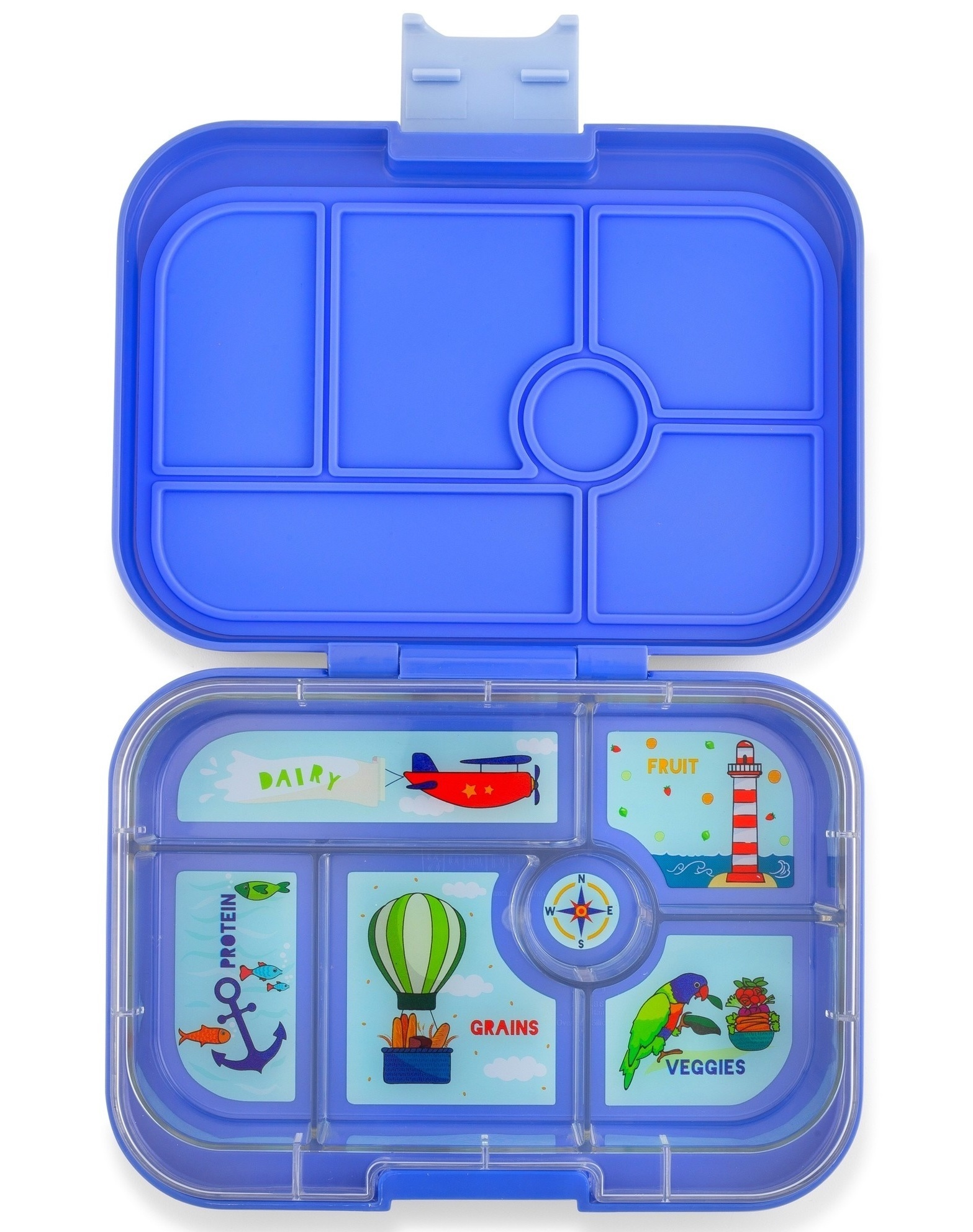 Yumbox Original 6-sections Jodphur blue / Explore tray-1