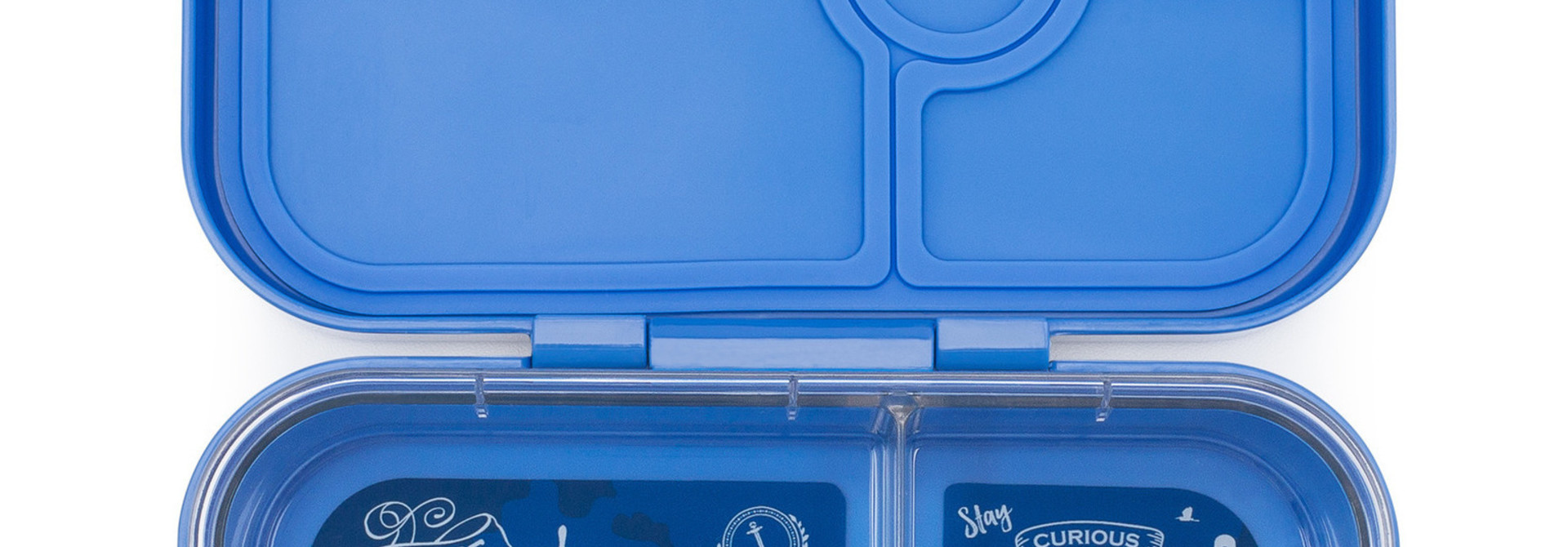 Yumbox Panino broodtrommel 4 vakken, Jodphur blauw / Explore tray