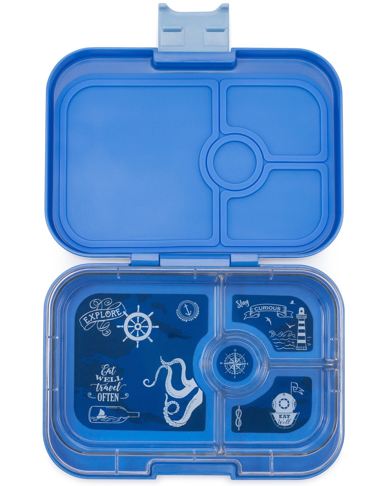 Yumbox Panino broodtrommel 4 vakken, Jodphur blauw / Explore tray-1