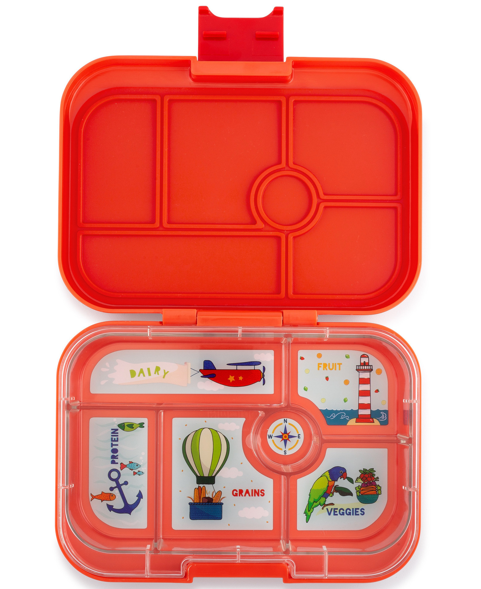Yumbox Original 6-sections Saffron orange / Explore tray-1