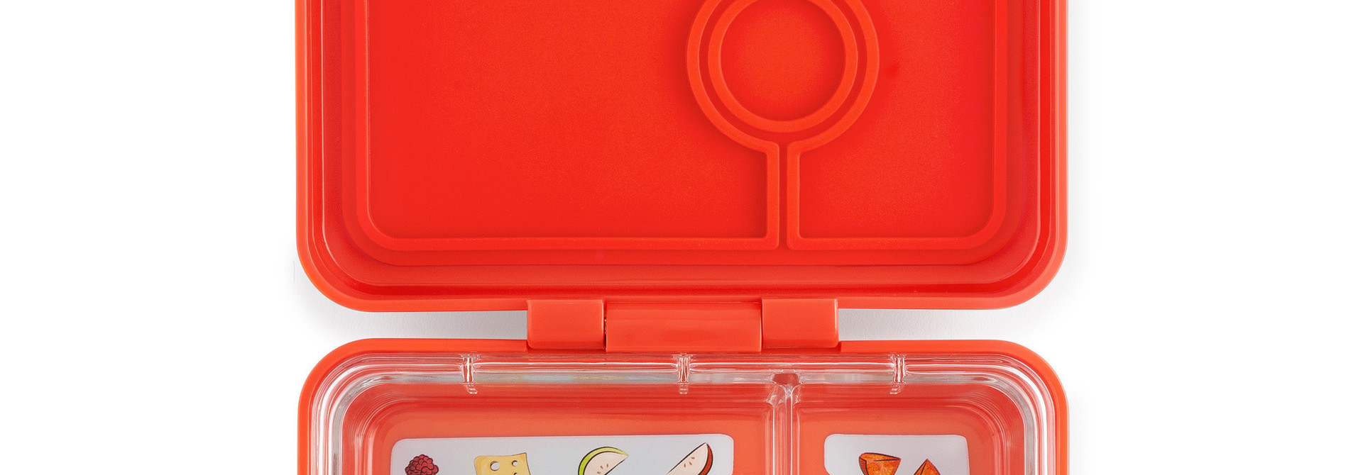 Yumbox MiniSnack 3-sections Saffron orange / Toucan tray