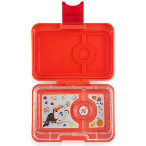 Yumbox MiniSnack broodtrommel 3 vakken Saffron oranje / Toucan tray