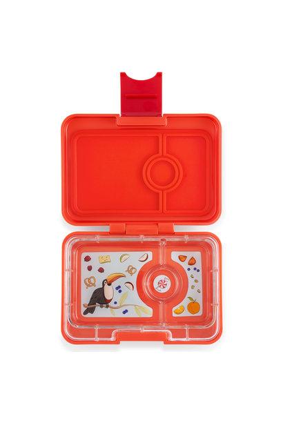 Yumbox MiniSnack 3-vakken Saffron oranje