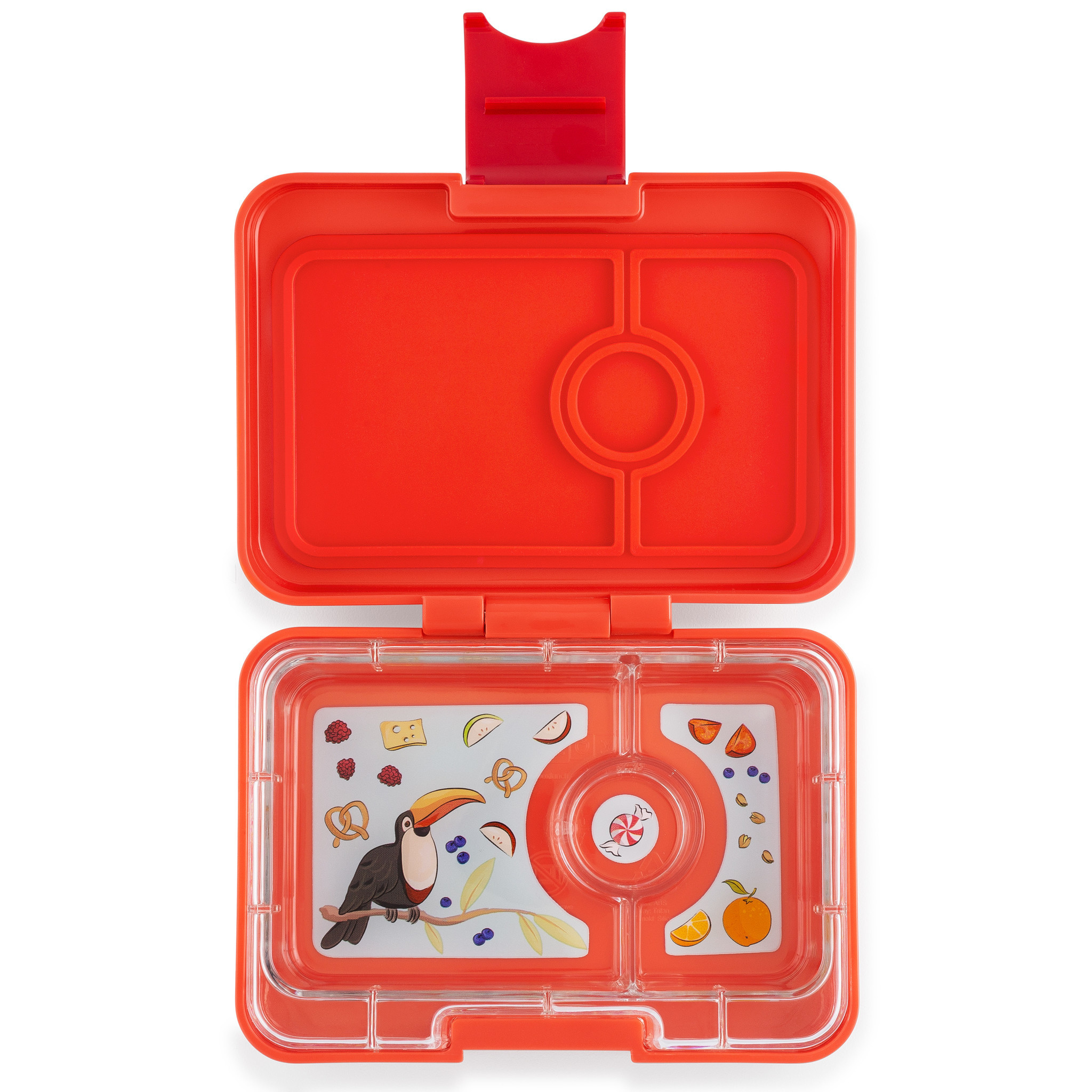 Yumbox MiniSnack 3-sections Saffron orange / Toucan tray-1