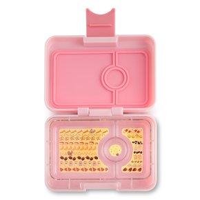 Yumbox MiniSnack broodtrommel 3 vakken Coco roze / Kittycat tray