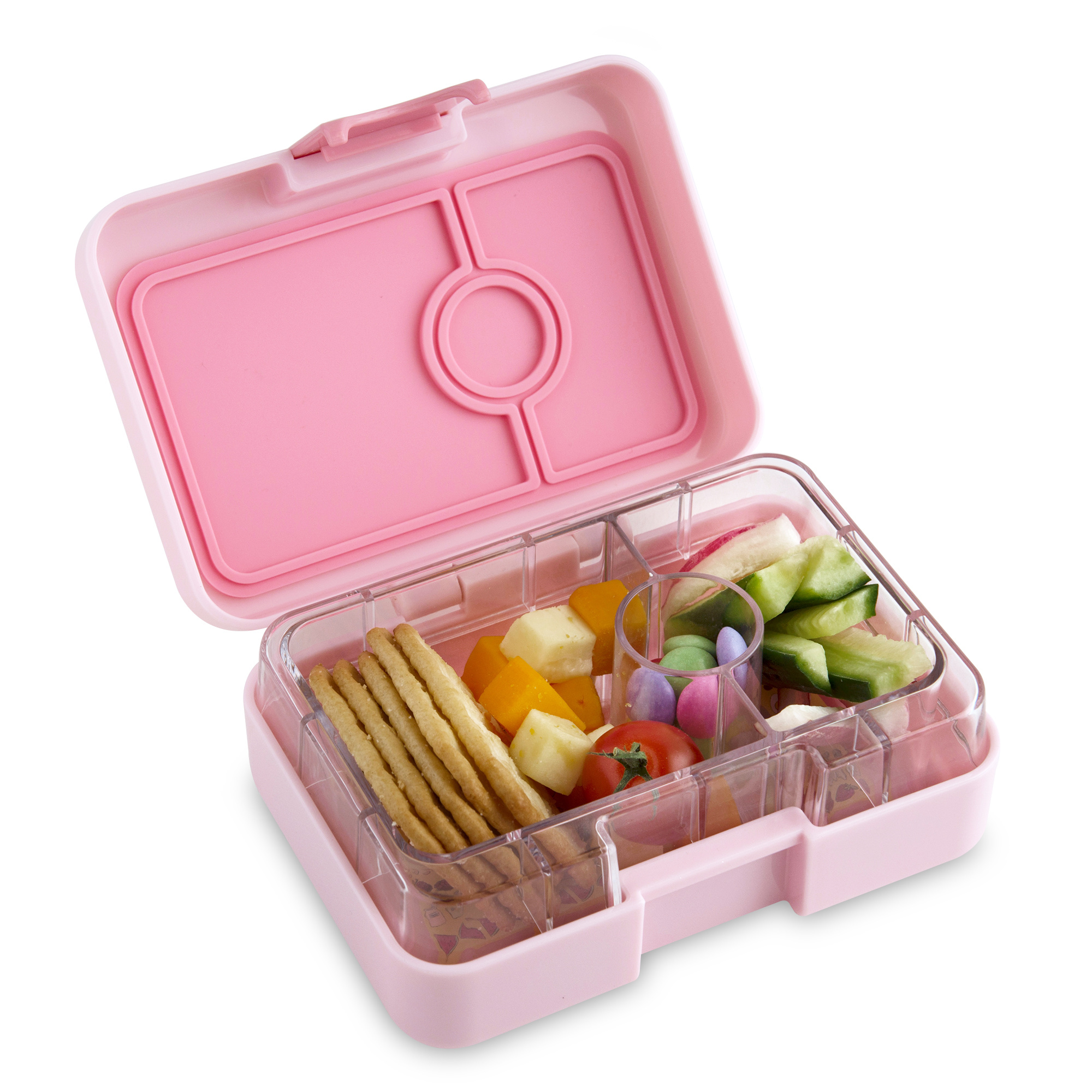 Yumbox MiniSnack 3-sections Coco pink / Kittycat tray-2