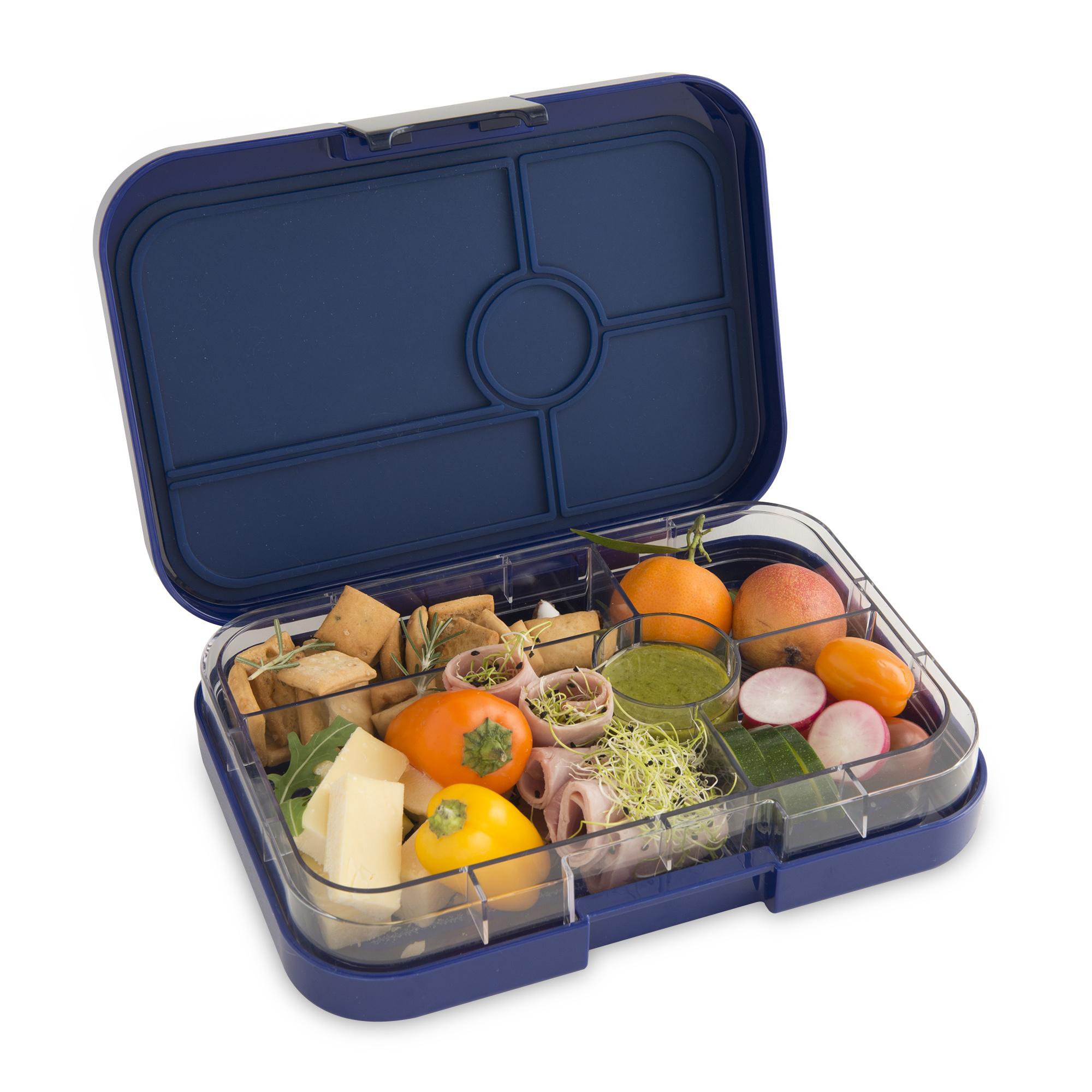 Yumbox Tapas XL broodtrommel Portofino blauw / Bon appetit 5 vakken-5