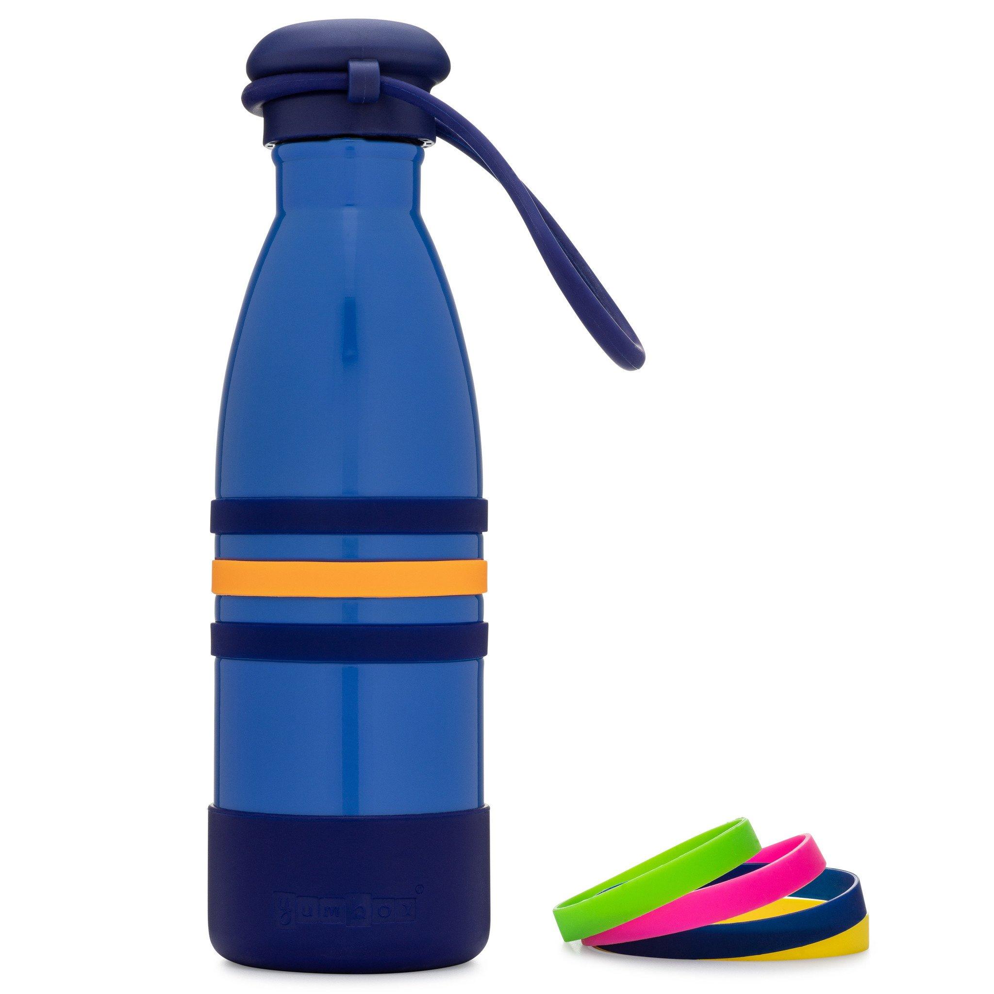 Yumbox Aqua thermos fles blauw-1
