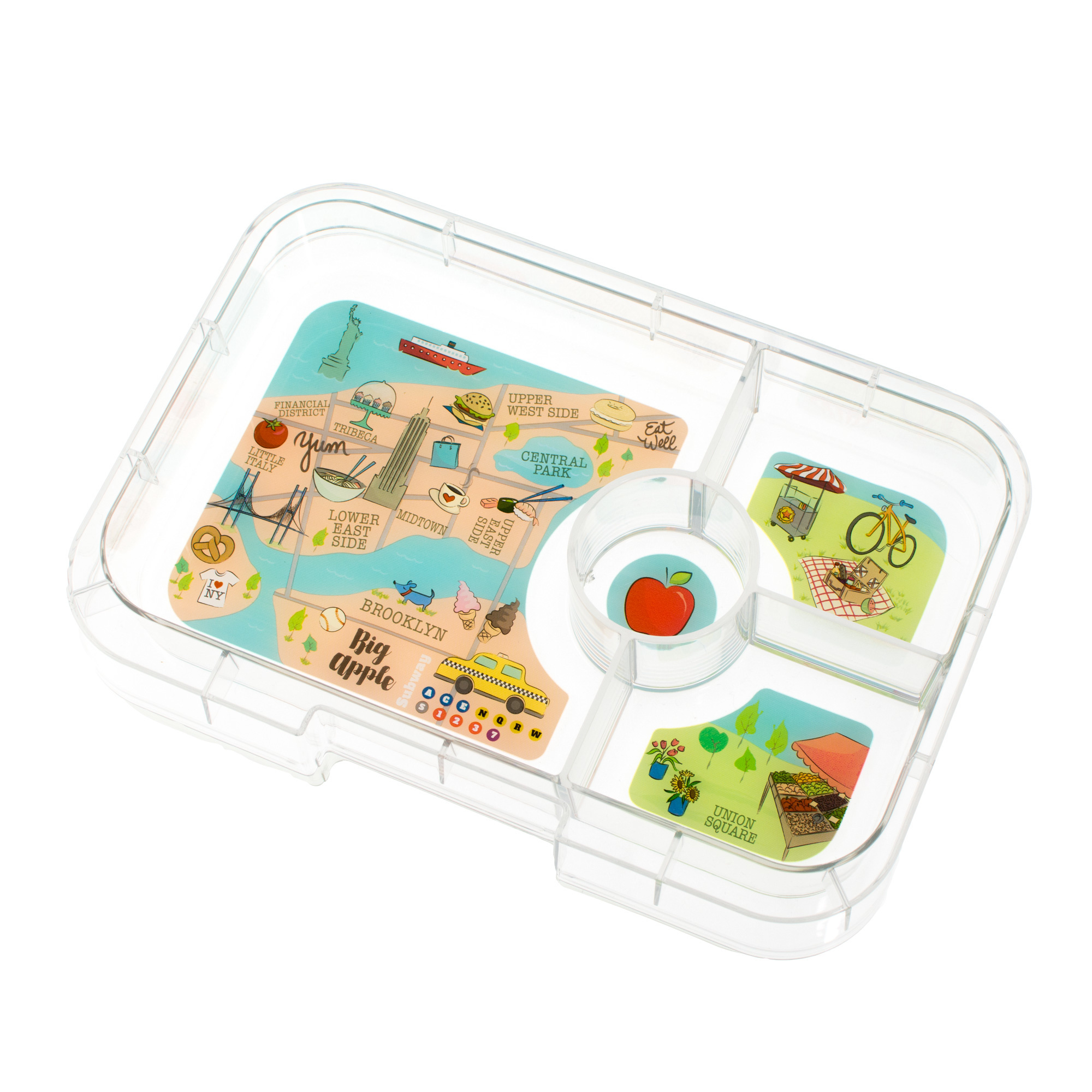 Yumbox Tapas tray 4-sections NYC-1