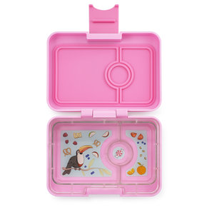 Yumbox MiniSnack box 3 sections Stardust pink / Toucan tray