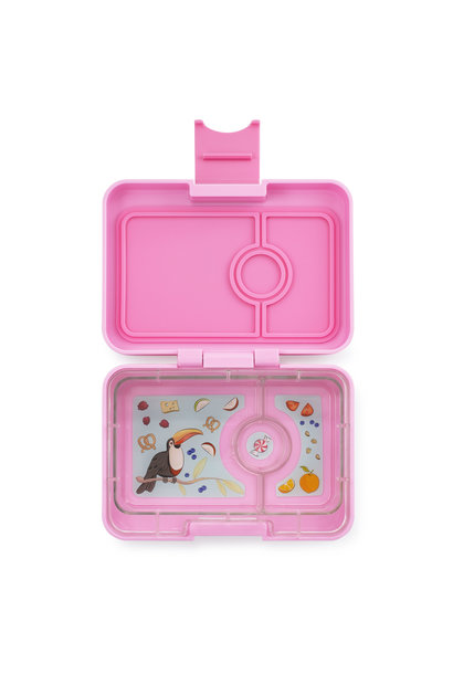 Yumbox MiniSnack 3-sections Stardust pink