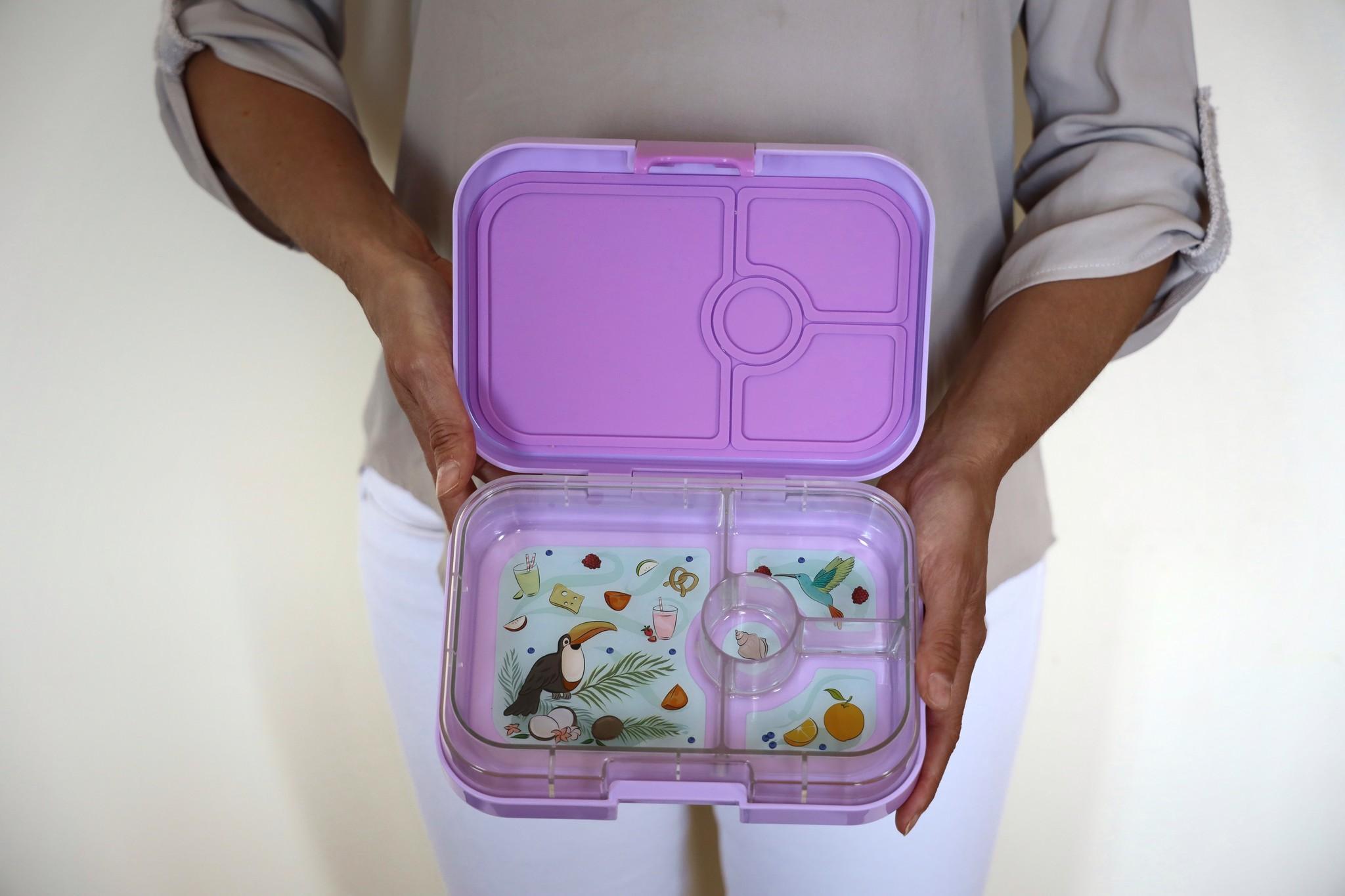 Yumbox Panino broodtrommel 4 vakken Lila paars / Paradise tray-3