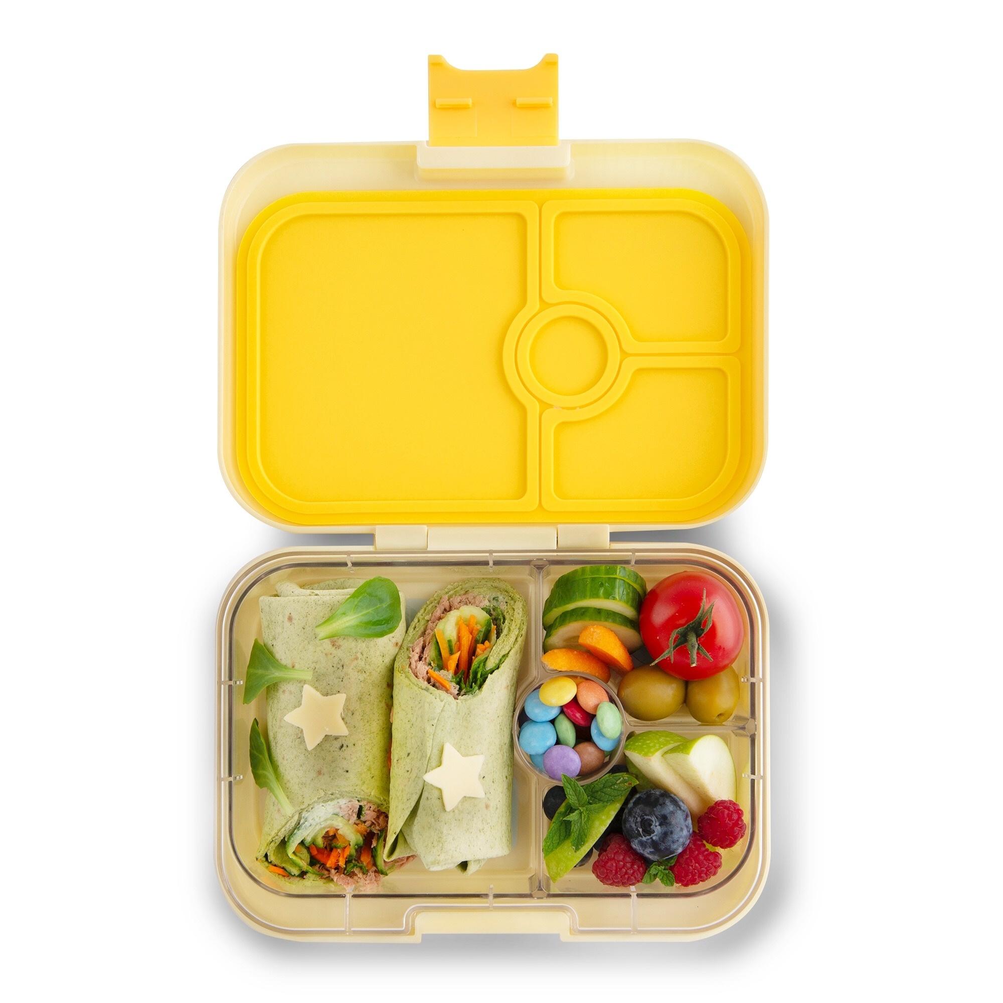 Yumbox Panino 4-sections Sunburst yellow / Paradise tray-2