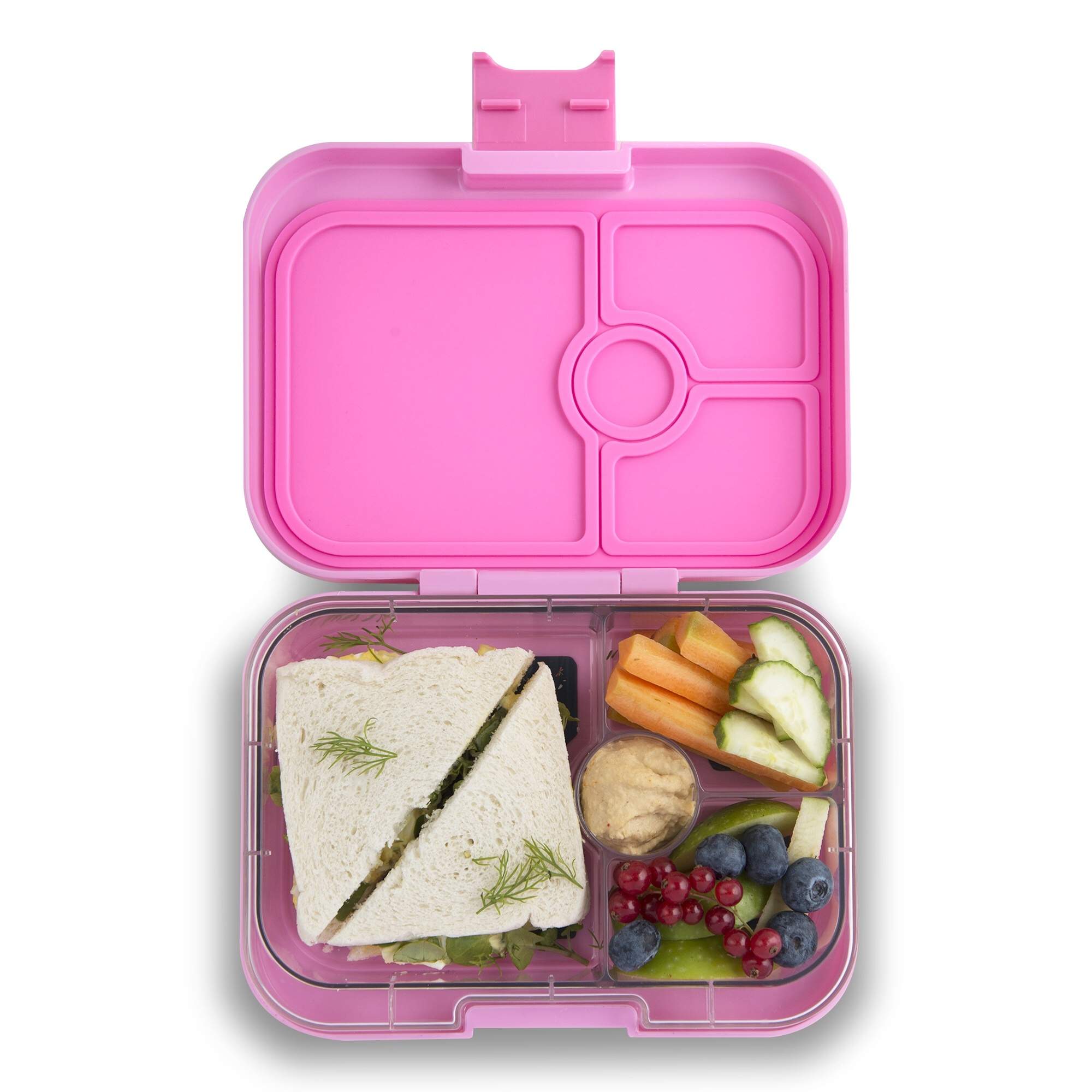 Yumbox Panino 4-sections Stardust pink / Enchanted forest tray-2