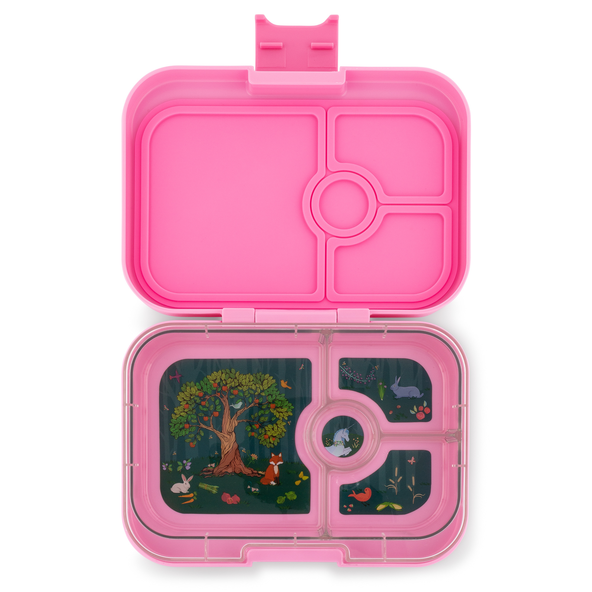 Yumbox Panino 4-sections Stardust pink / Enchanted forest tray-1