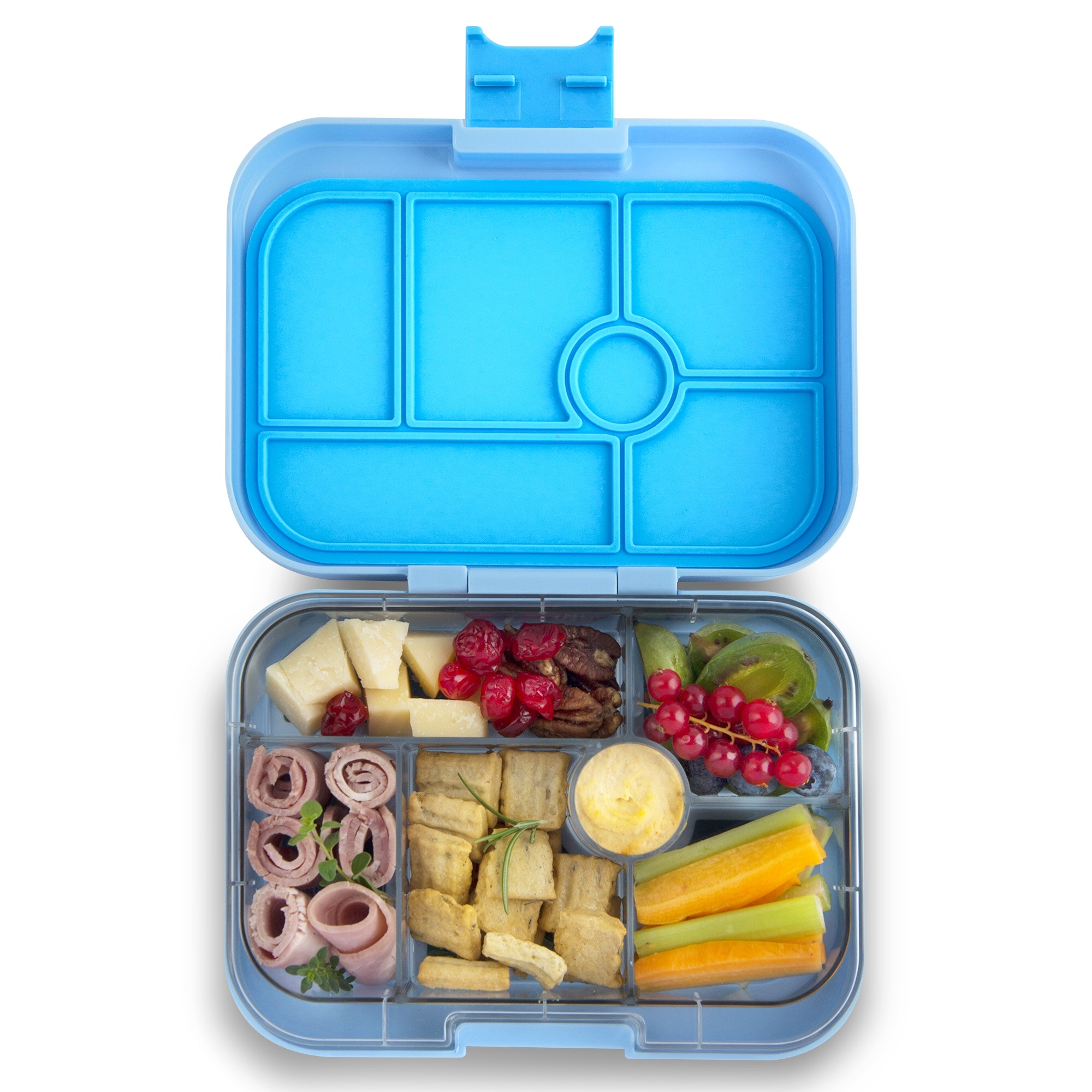 Yumbox Original 6-sections Luna blue / Unicorn tray-2