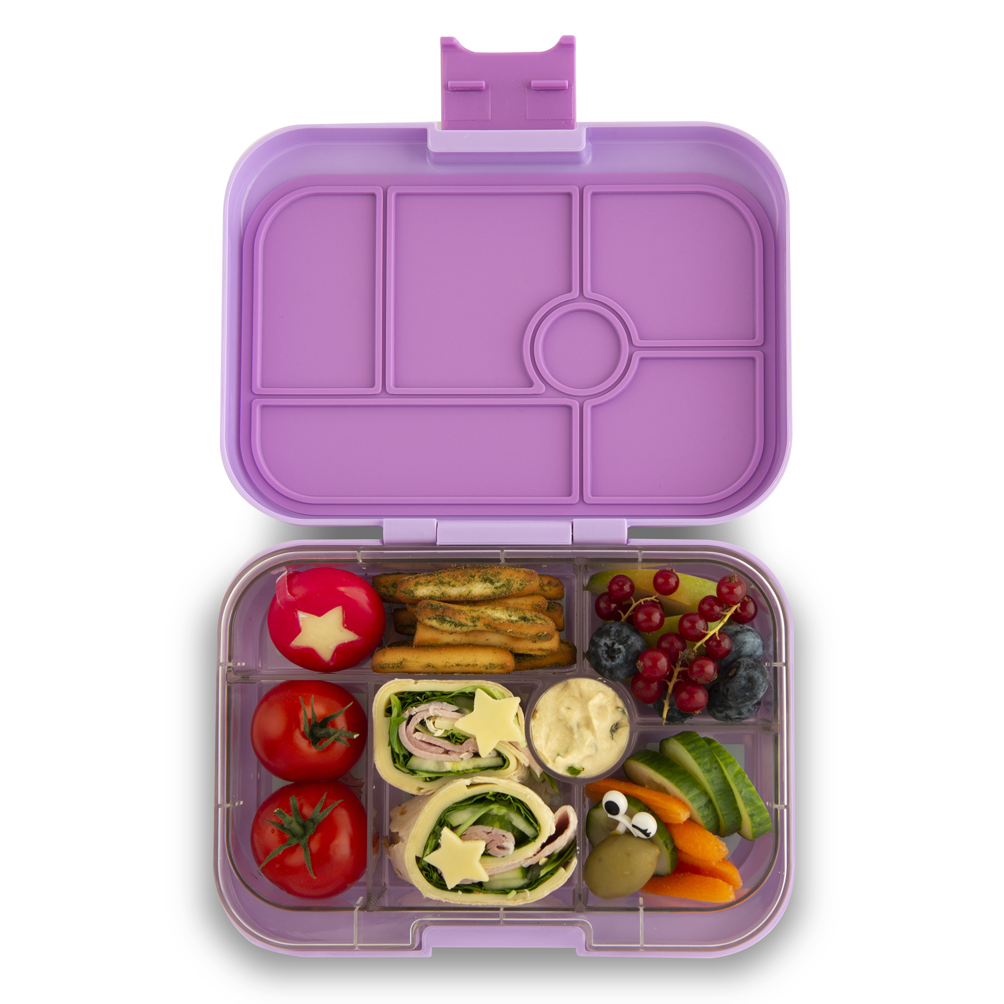 Yumbox Original 6-sections Lila purple / Paradise tray-2