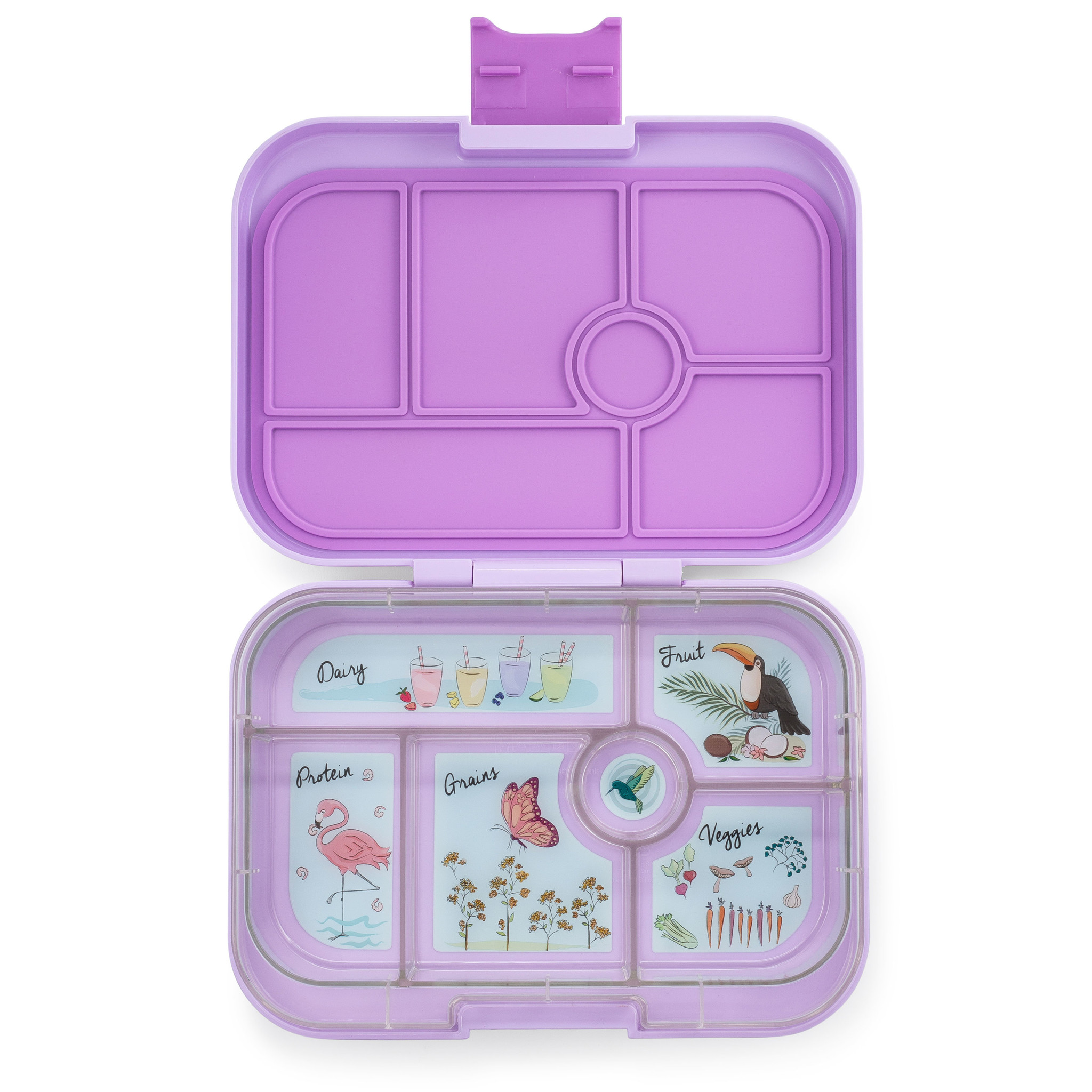 Yumbox Original 6-sections Lila purple / Paradise tray-1