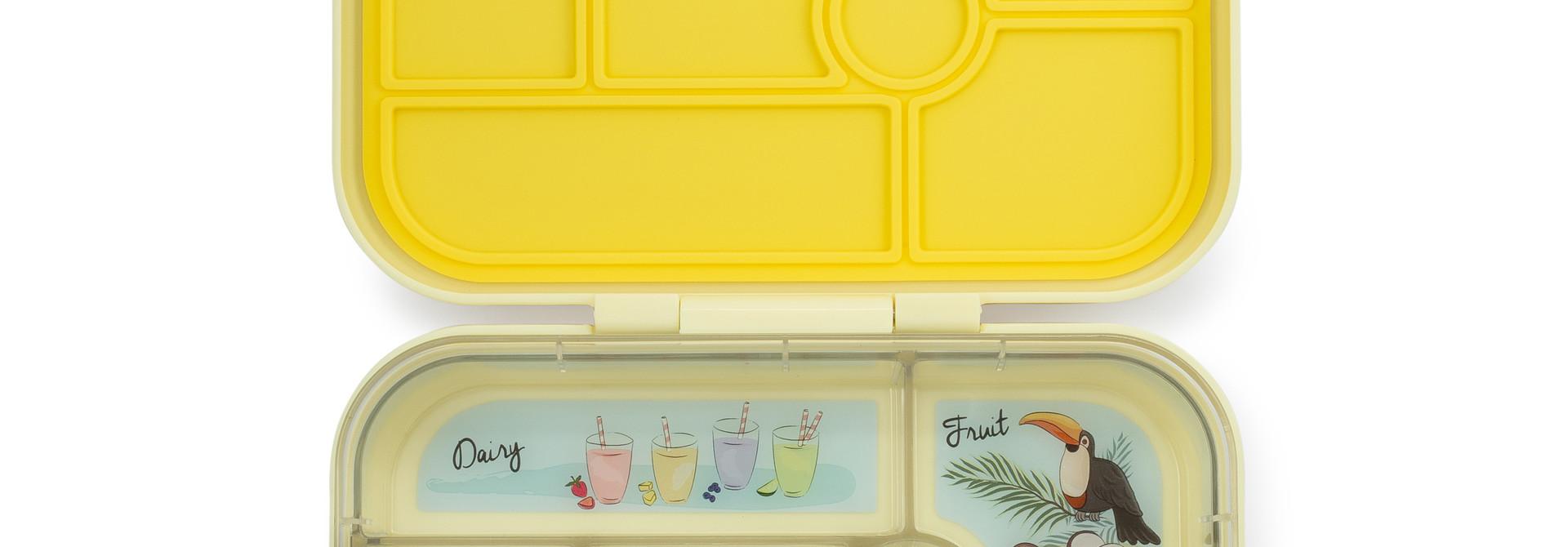 Yumbox Original broodtrommel 6 vakken Sunburst geel / Paradise tray