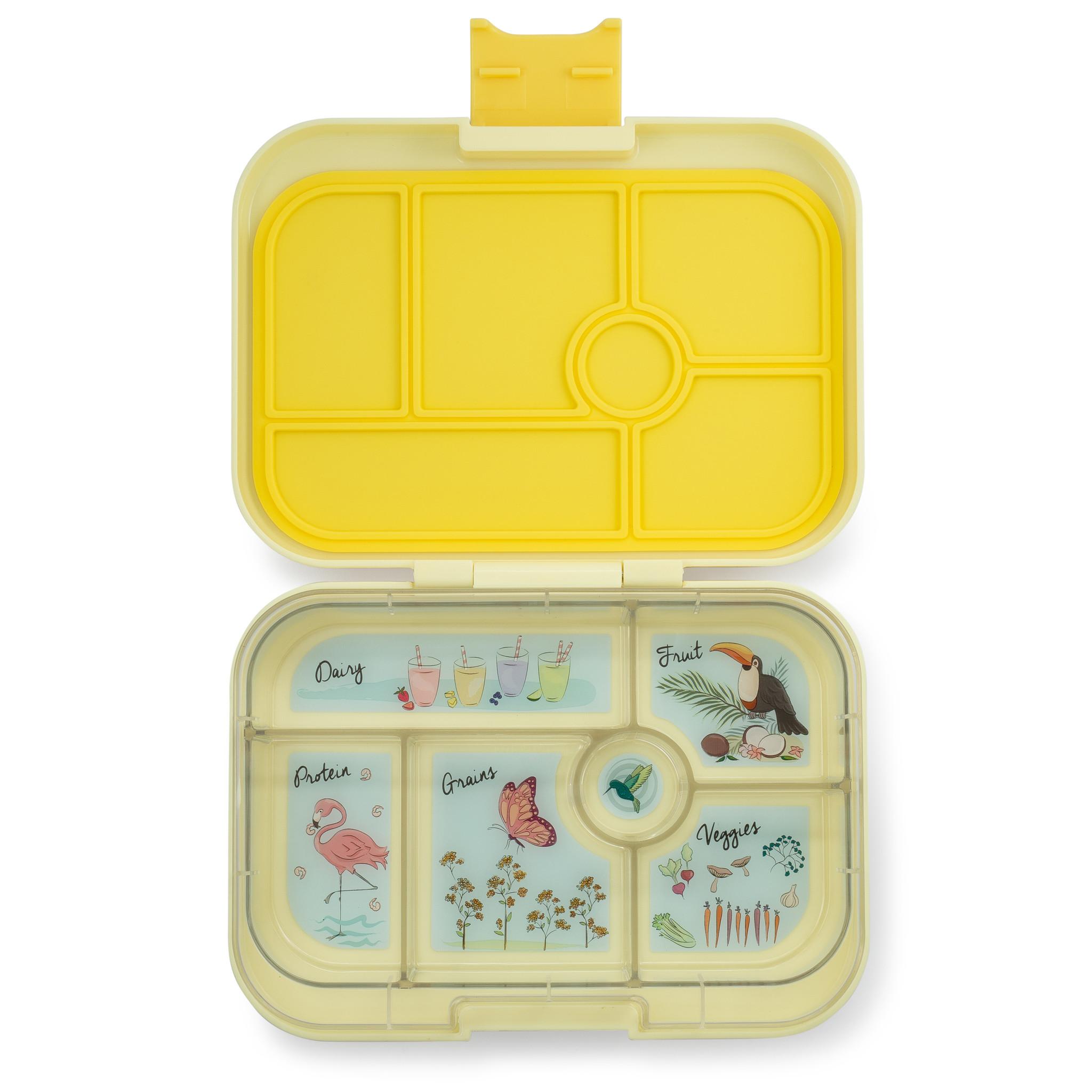 Yumbox Original 6-sections Sunburst yellow / Paradise tray-1