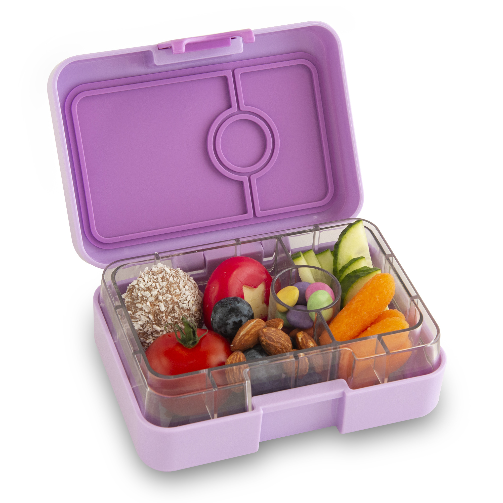 Yumbox MiniSnack 3-sections Lila purple / Toucan tray-5