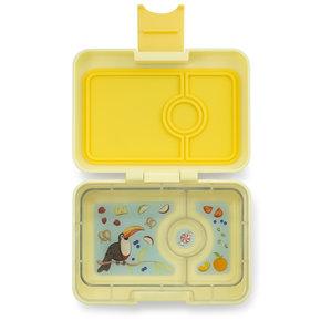 Yumbox MiniSnack box 3 sections Sunburst yellow / Toucan tray