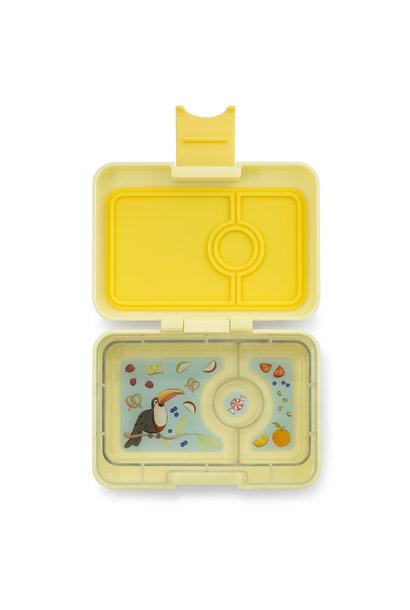 Yumbox MiniSnack 3-vakken Sunburst geel