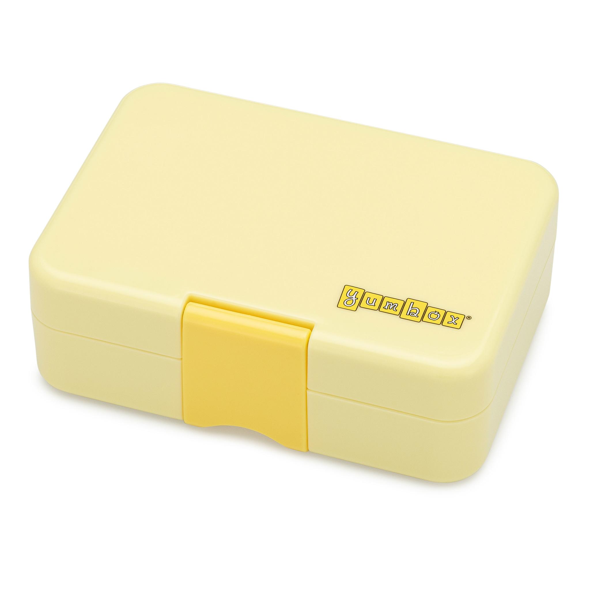 Yumbox MiniSnack broodtrommel 3 vakken Sunburst geel / Toucan tray-4