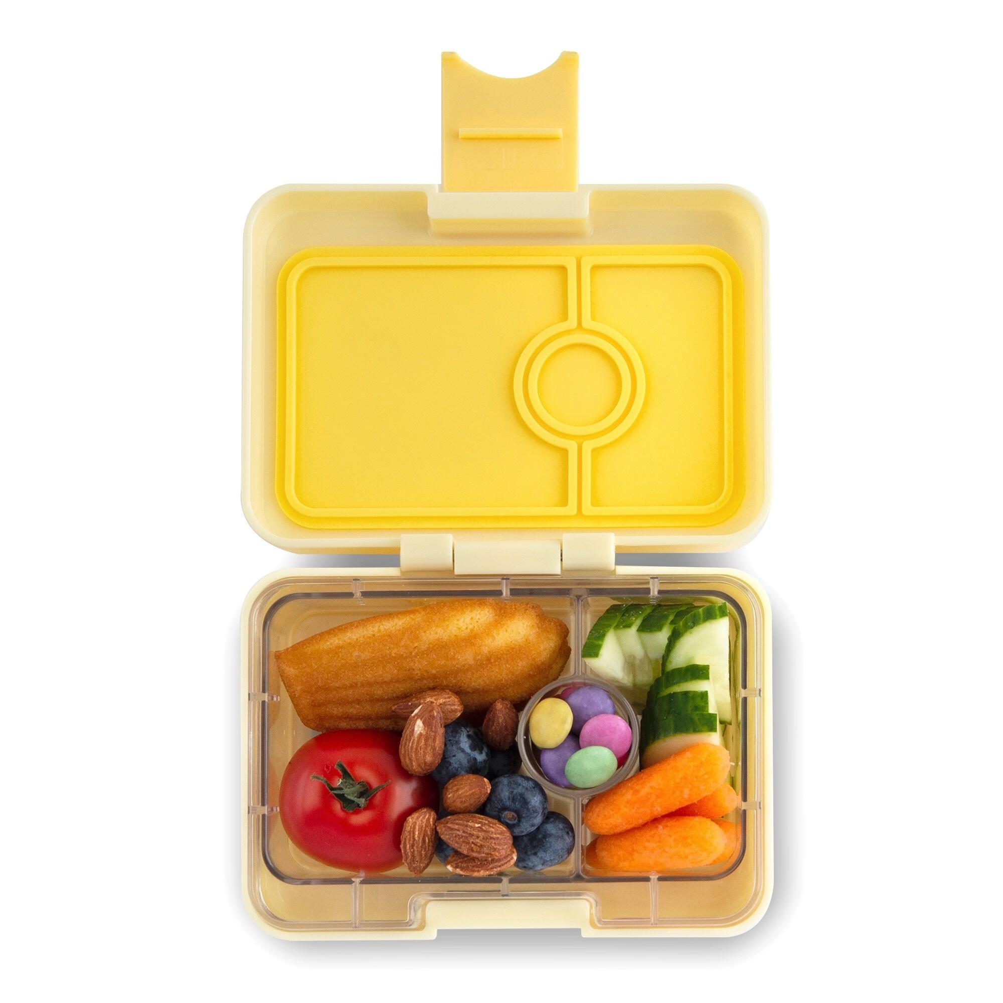Yumbox MiniSnack broodtrommel 3 vakken Sunburst geel / Toucan tray-2