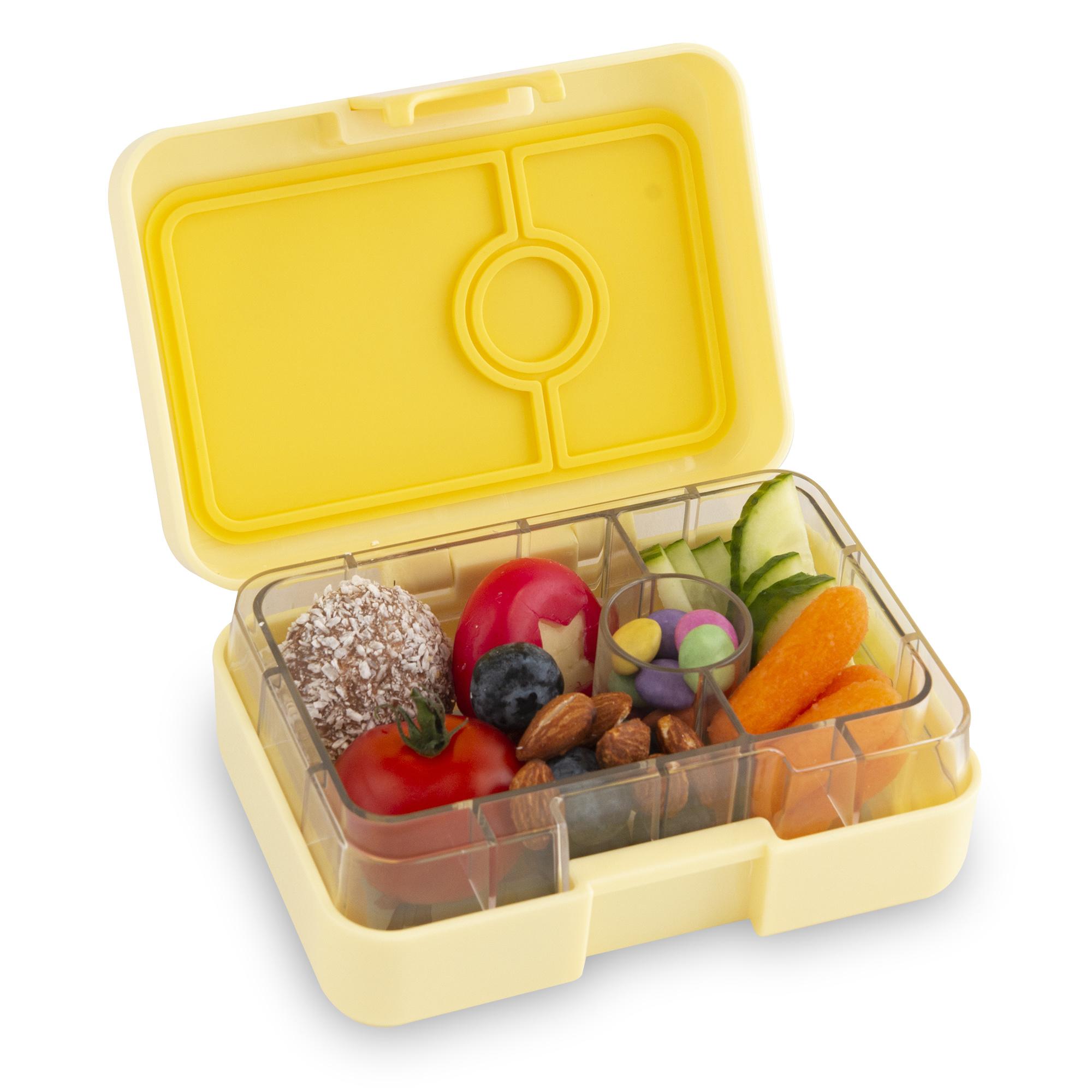 Yumbox MiniSnack broodtrommel 3 vakken Sunburst geel / Toucan tray-5