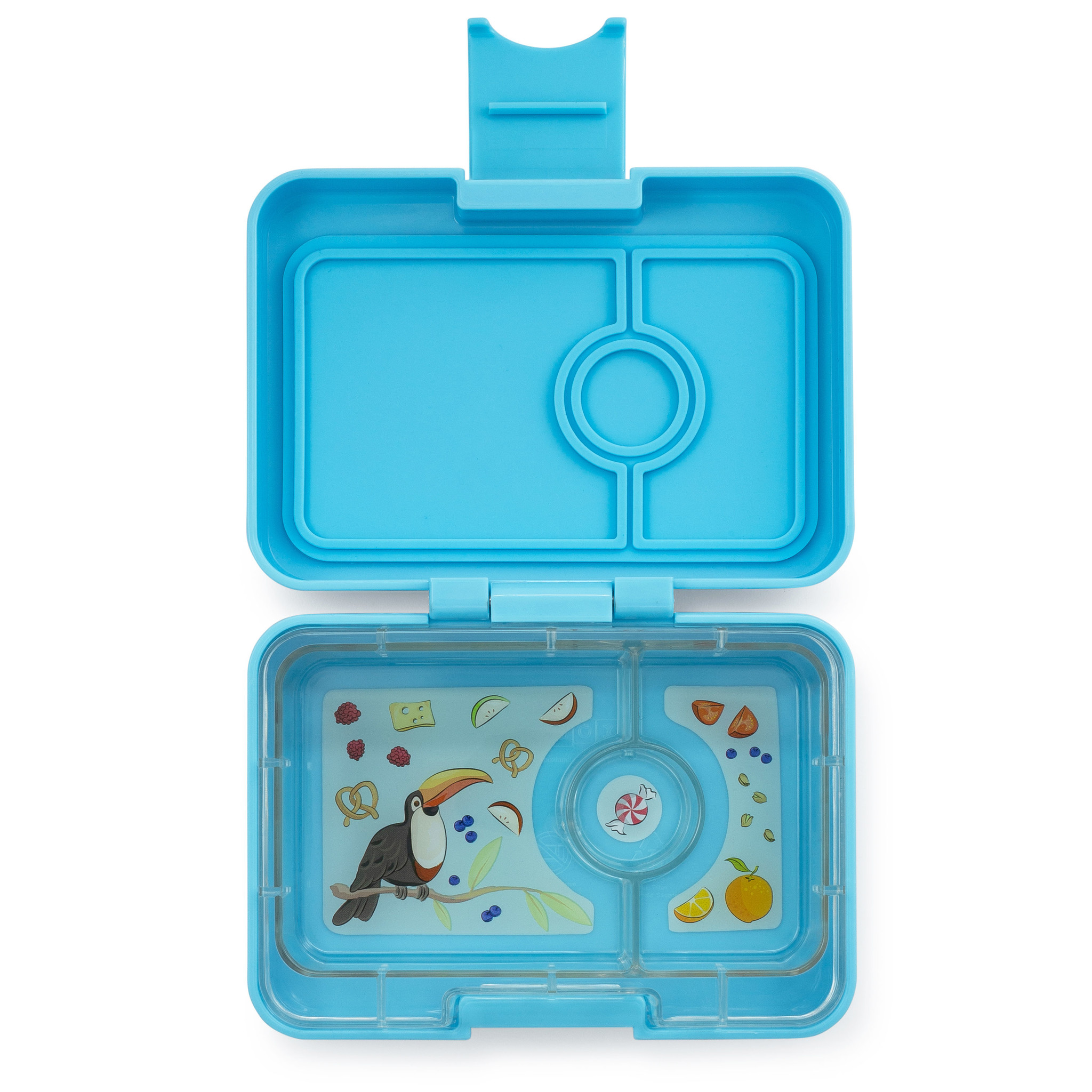 Yumbox MiniSnack 3-sections Nevis blue / Toucan tray-1