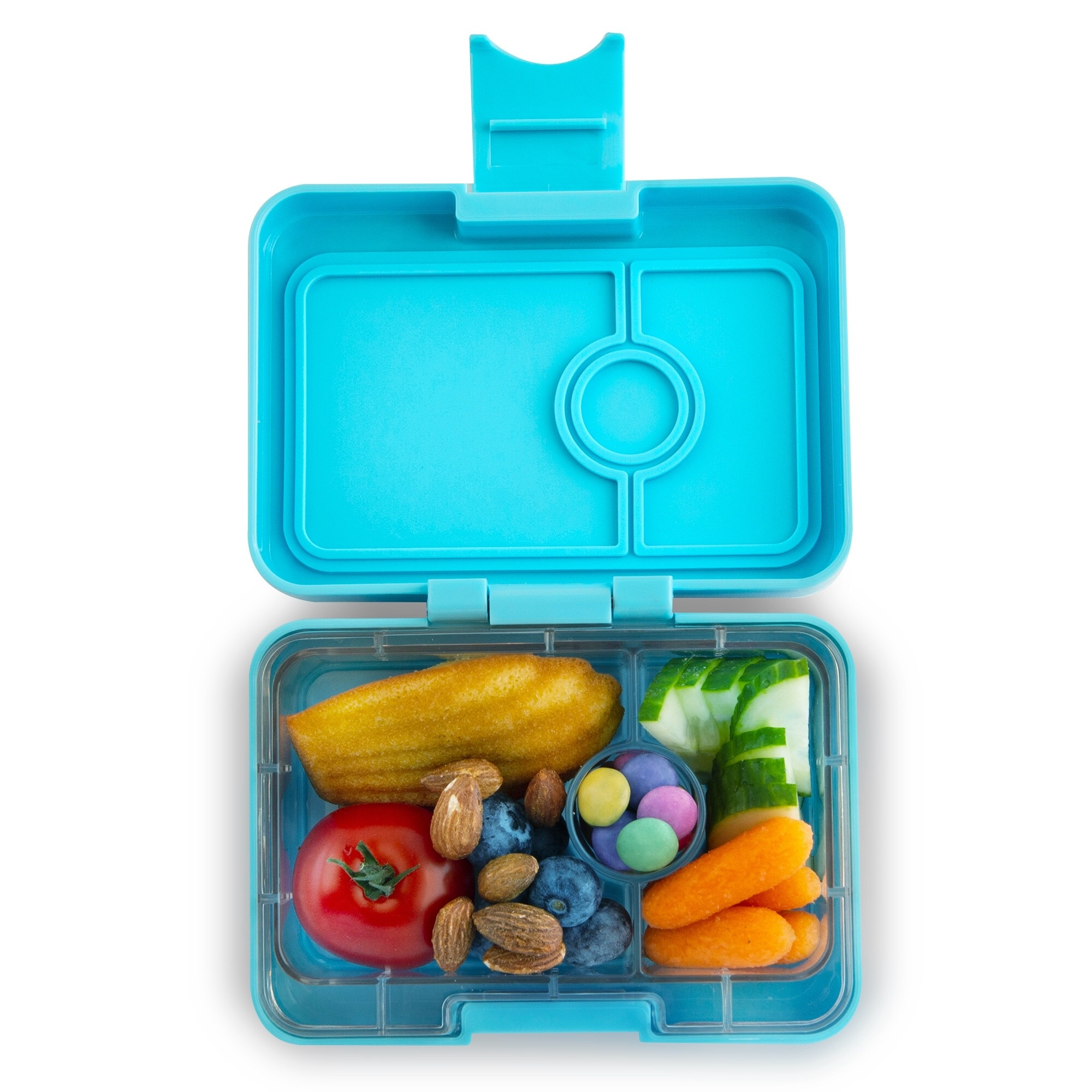 Yumbox MiniSnack 3-sections Nevis blue / Toucan tray-2