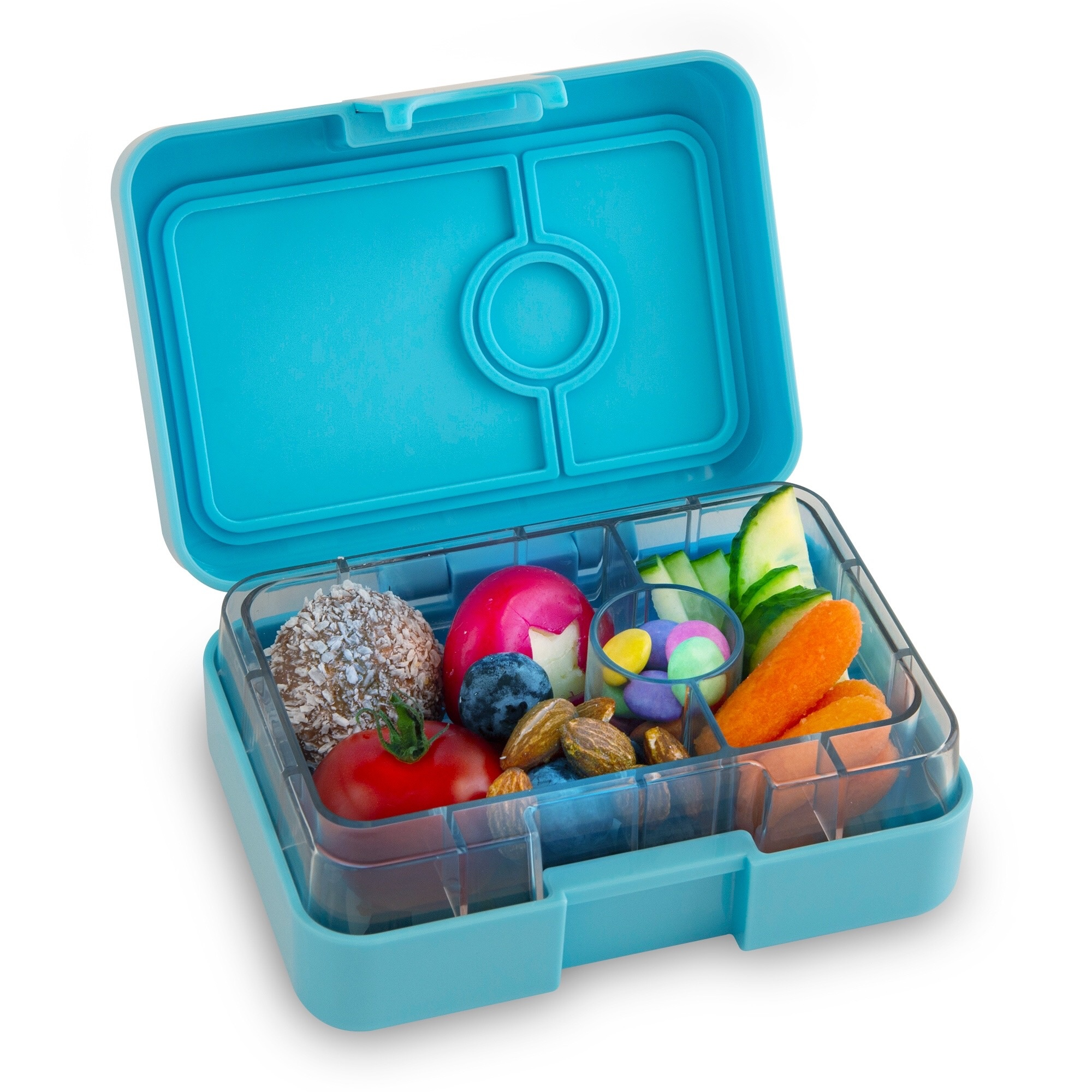 Yumbox MiniSnack 3-sections Nevis blue / Toucan tray-5