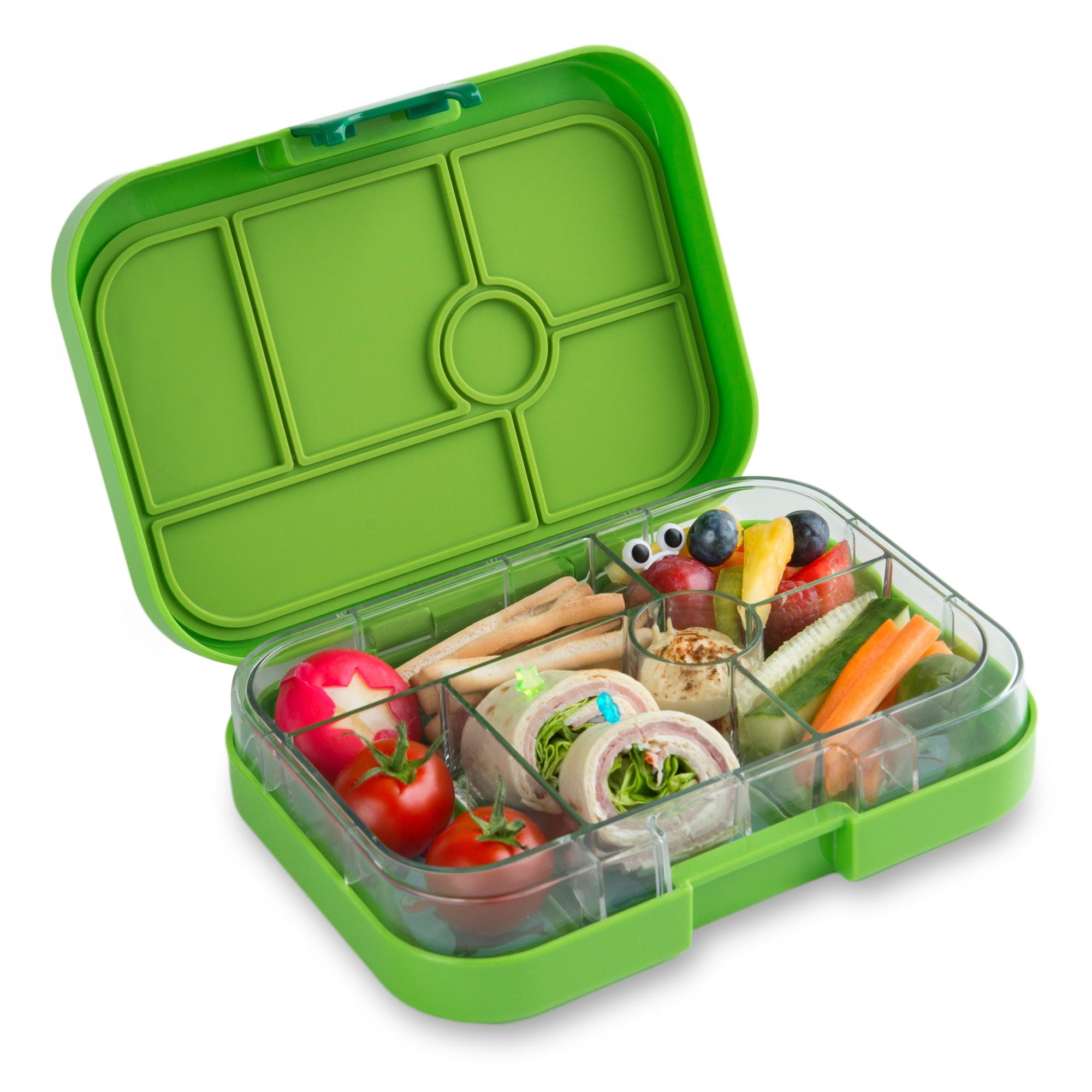 Yumbox Original broodtrommel 6 vakken Avocado groen / Kite tray-3