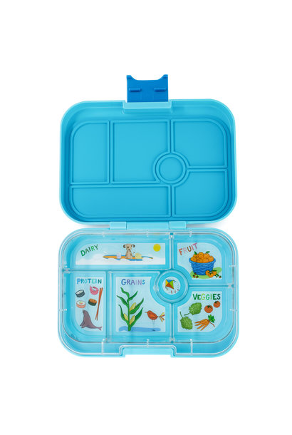 Yumbox Original 6-sections Blue fish