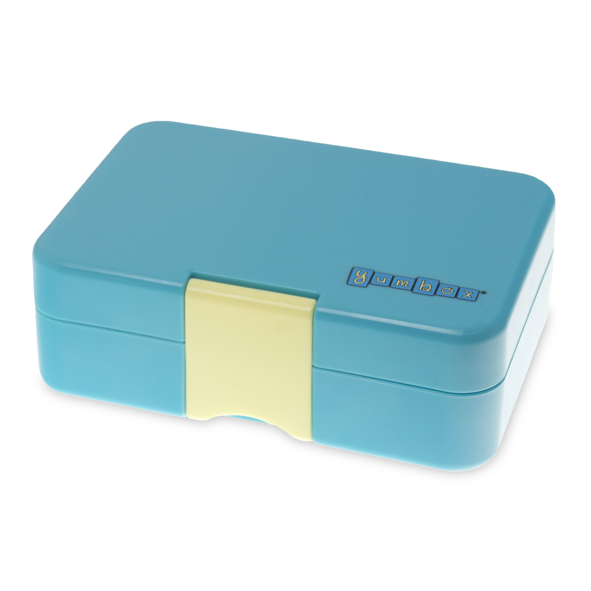 Yumbox MiniSnack 3 sections Cannes blue / Kittycat tray-3