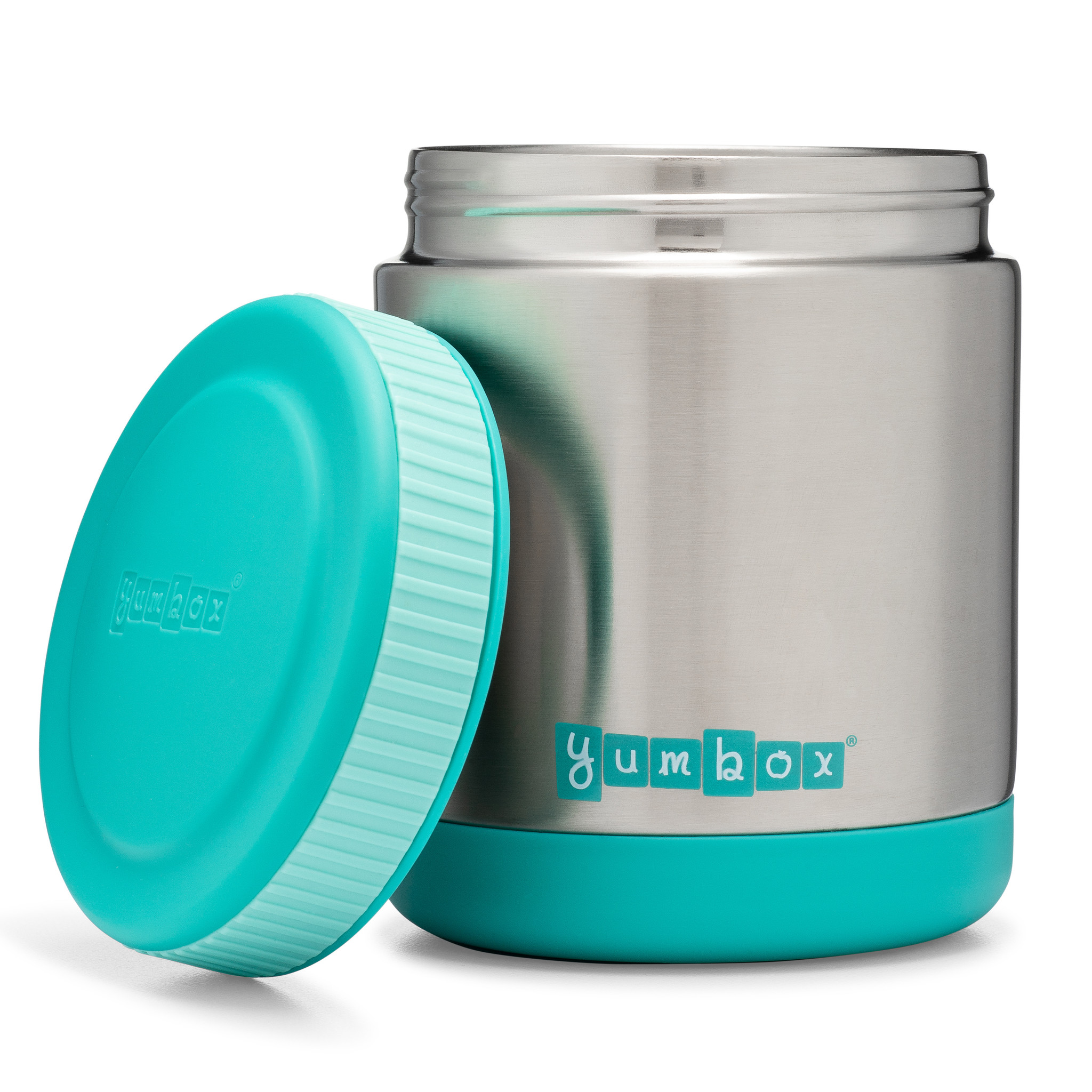 Yumbox Zuppa Caicos Aqua with spoon-2