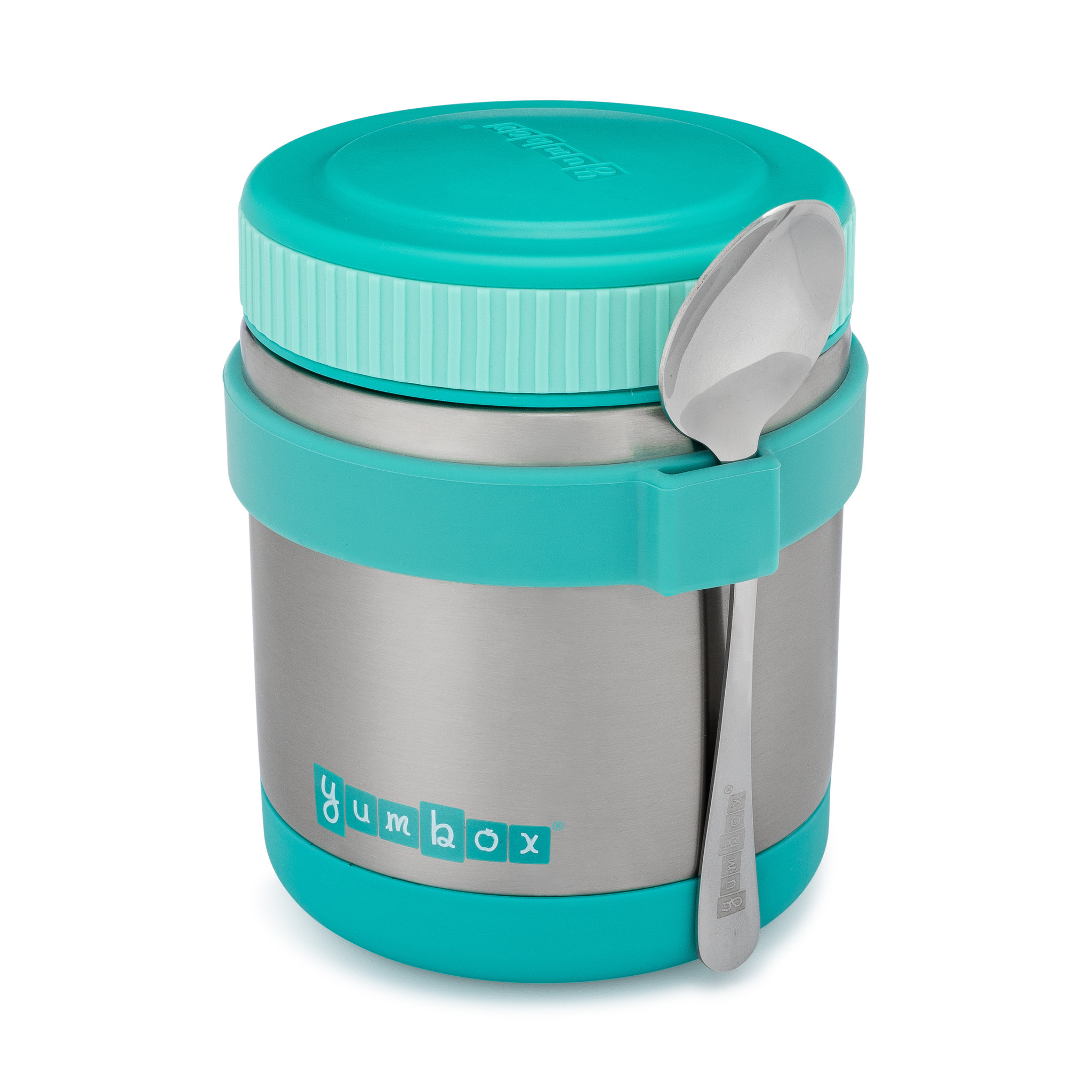 Yumbox Zuppa Caicos Aqua with spoon-3